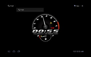 Screenshot of Race Clock Live WP