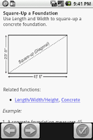 Screenshot of ConcreteCalc Pro for Concrete