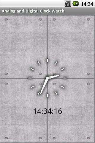 Concrete Analog Digital Clock
