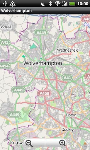 Wolverhampton Street Map