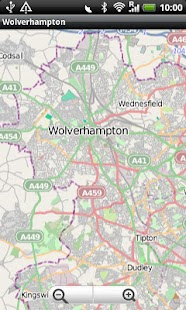 Wolverhampton Street Map - screenshot