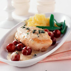 Sauteed Chicken Breasts with Brandy Dijon Grape Sauce