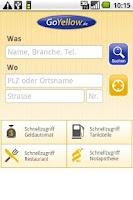 Screenshot of GoYellow Branchenbuch