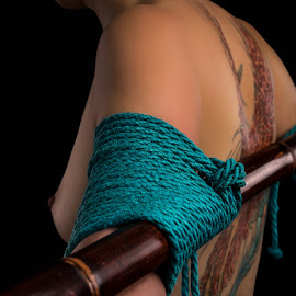 BDSM Rope by Robby Ticknor - Nudes & Boudoir Artistic Nude ( bdsm, bamboo, rope, arms, tattoo )