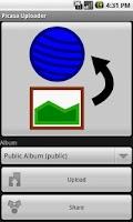 Screenshot of Picasa Uploader