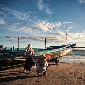 Ready to Sail  by Aloysius Alphonso - Transportation Boats
