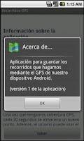 Screenshot of Recorridos GPS