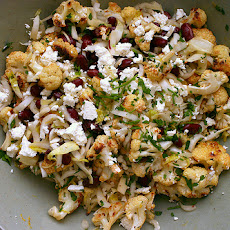 Cauliflower, Kidney Bean and Feta Salad