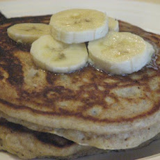 Whole Wheat, Oatmeal and Banana Pancakes