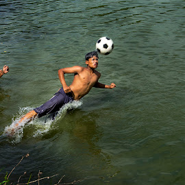 The Rural  Sport   by Roopam Ahmed - Sports & Fitness Other Sports ( headshot, football, fitness, sport, timing, jump )