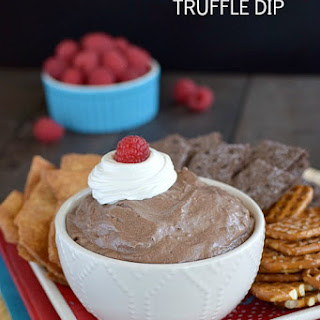 Chocolate Raspberry Truffle Dip