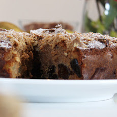 Pear and Prune Crumble Cake