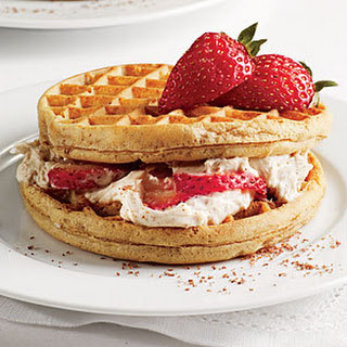 Strawberry Cream Cheese Waffle Sandwiches