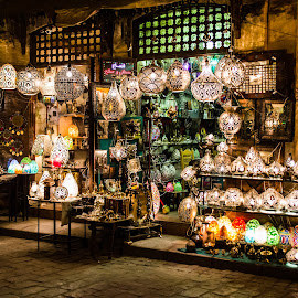 Lights store by Mohamed Salama - City,  Street & Park  Street Scenes ( lights, old, cairo, street, nikon, antiques )