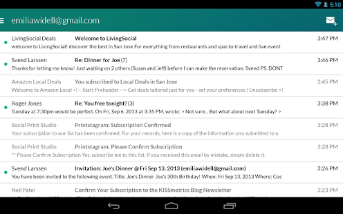 Email App for Gmail & Exchange Screenshot