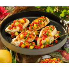 Chicken with Mango-Tomato Salsa
