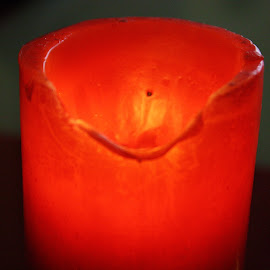 red candle by Noele Hachach - Artistic Objects Other Objects