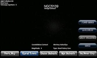Screenshot of Deep Sky Calculator(Astronomy)