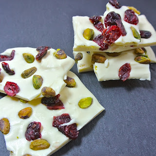 White Chocolate Cranberry & Pistachio Bark