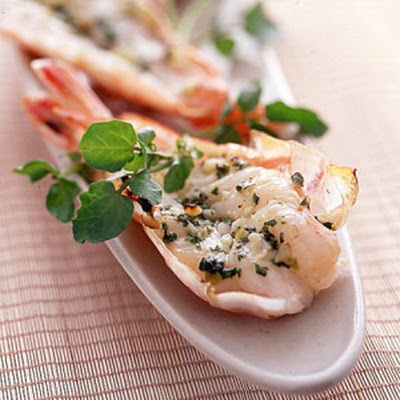 Shrimp with Basil