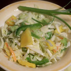 Caribbean Coleslaw With Orange Mango Dressing