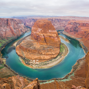 Horseshoe bend by Jerome Obille - Landscapes Mountains & Hills ( orange, colorado river, national park, rocky mountain, travel, landscape, horseshoe bend, jobille photography, river )