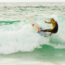 surfing, fistral by Samantha Bearman - Sports & Fitness Surfing ( holiday, surfing, 2013, surfer, sea, ocean, beach, cornwall, fistral bay )