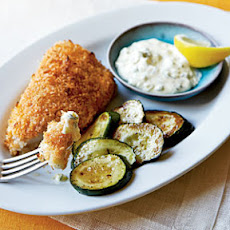 Crispy Fish with Lemon-Dill Sauce