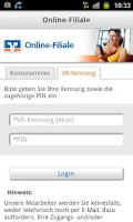 Screenshot of Online-Filiale