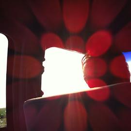Kandy's Sunbeams. by Wendy Reinhart-Miller - Abstract Fire & Fireworks