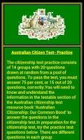 Screenshot of Citizenship Test - Australian