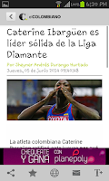 Screenshot of Newspaper El Colombiano