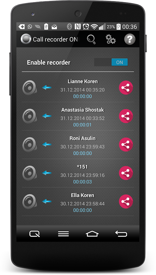 Call Recorder One Touch Full Screenshot 7