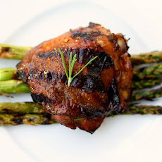 Lemon, Rosemary and Balsamic Grilled Chicken Thighs