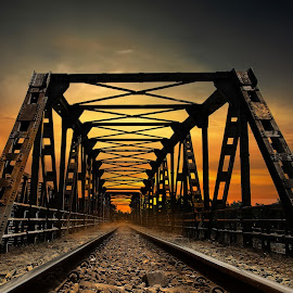 by Abhirama Arro - Transportation Railway Tracks