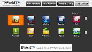 Screenshot of IPWorldTV GTV(Beta version)