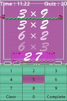 Screenshot of Multiplication Table Master~!!