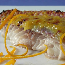 Orange-Glazed Red Snapper