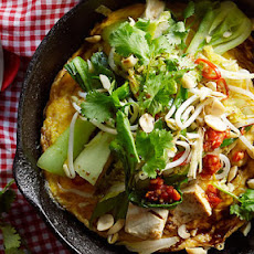 Omelette With Tofu, Greens And Kecap Manis