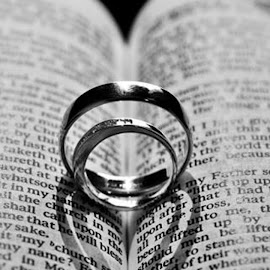 Wedding Rings by Davey Ghaleb - Wedding Other ( ring, heart, wedding, rings, bible, sunlight, weddingbands, shadows )