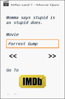Screenshot of Cool Quotes - Movie Quiz