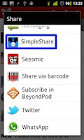 Screenshot of SimpleShare