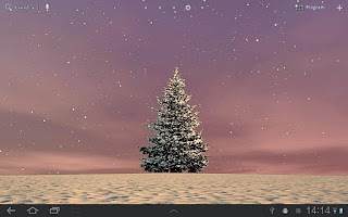 Screenshot of Winter Trees Live Wallpaper