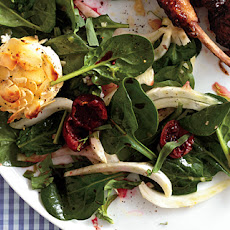 Mesclun and Cherry Salad with Warm Goat Cheese