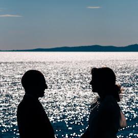 silouethe by Antonio Miše - Wedding Bride & Groom ( vjenčanje, croatia, split, dalmatia, mise, photography )