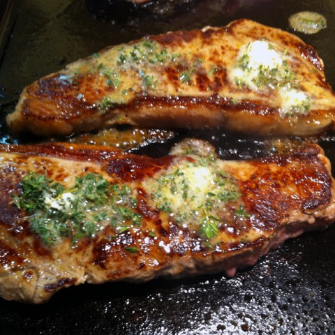 Grilled Steak With Lemon-Thyme Butter