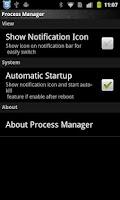 Screenshot of Process Manager