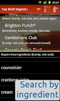Screenshot of Top Shelf mixed-drinks recipes