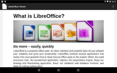 LibreOffice Viewer Beta Screenshot