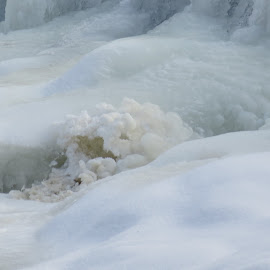 Frozen Water in Falls by Marcia Taylor - Novices Only Landscapes (  )
